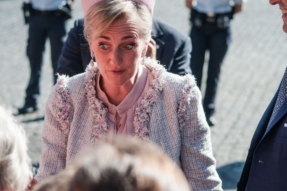 Princess Astrid greets the crowd.