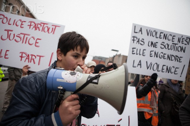 Citizens protest against police brutality in Brussels
